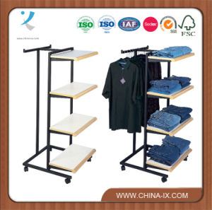 Two Way Garment Rack with Shelves & T-Bar pictures & photos