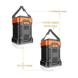 New Arrival Fashion Design Rechargeable Camping Lantern Power Bank Combo for Tent pictures & photos