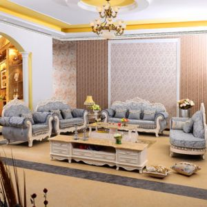 Sofa with Wood Sofa Frame for Home Furniture (929C) pictures & photos