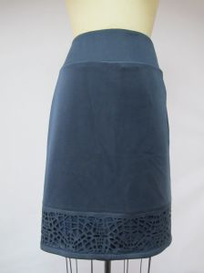 Blue Ancient Long Hollowing-out Ladies Office Stright Skirt pictures & photos
