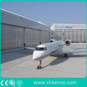 PU-Panel Automatic Sliding Aircraft Garage Door pictures & photos