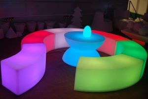 Lighting Portable LED Lighting Ottomans Bend Circle Stools Chair pictures & photos