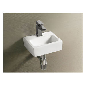 Cheap Price Ceramic Wash Basin Simple Design Wall Hung Sink pictures & photos