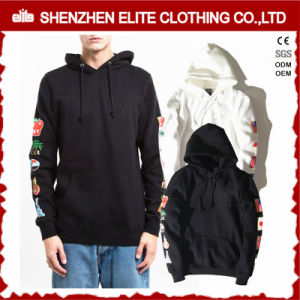 Custom Embroidered Thumb Holes 80 Cotton 20 Polyester Hoodies (ELTHSJ-1180) pictures & photos