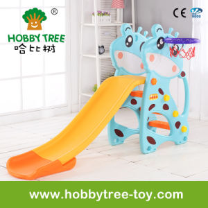 2017 Deer Style Cheap Plasti Kids Slide with Ce Certification (HBS17005B) pictures & photos