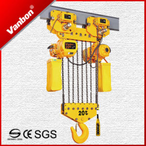 20ton Double Speed Trolley Type Chain Hoist (WBH-20008D) pictures & photos