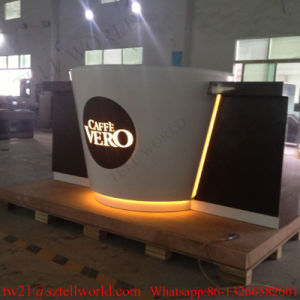 LED Coffee Shop Modern Bar Counter Design Starbucks Bar Counter for Sale pictures & photos