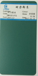 Jm60501PT5 Green Shining Brand Powder Coating pictures & photos