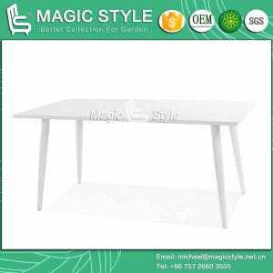 Modern Aluminum Table Outdoor Rectangle Table Garden Dining Table (Magic Style) pictures & photos