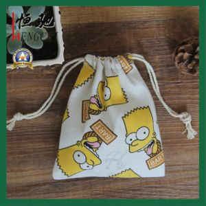 Fashion Reusable Factory Made Drawstring Jewelry Cotton Bag pictures & photos