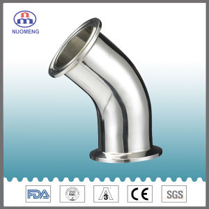 Sanitary Stainless Steel Pipe Fitting: L2ks 45 Degree Welded Elbow with Straight End (3A-No. NM022119) pictures & photos