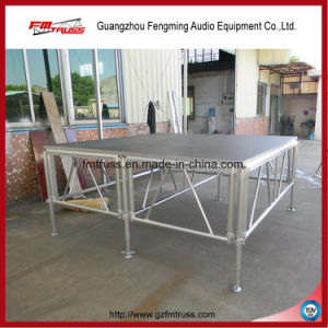 1.22*1.22m or 1.22*2.44m Waterproof Plywood Ad Stage Four Legs Stage pictures & photos