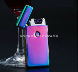 Front Button Colorful Charge USB Double Arc Lighter pictures & photos