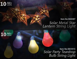 Solar Metal Star Lantern String Light 10 LEDs pictures & photos