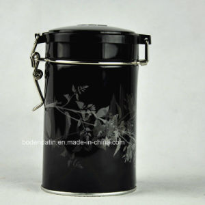 Custom Round Airtight Tea Packaging Tin Box with Wire Lock pictures & photos