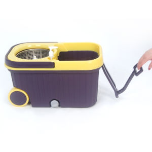 Hot Selling Walkable Magic Mop with Wheel pictures & photos