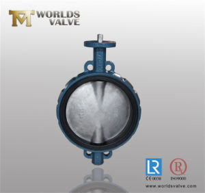 Bare Stem CF8 Stainless Steel Wafer Butterfly Valve pictures & photos