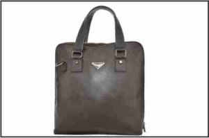 Men′s Coffee Business Genuine Leather Handbag pictures & photos