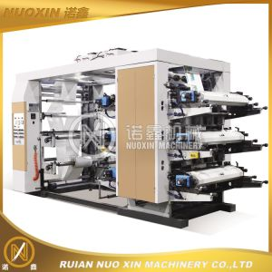 Stack Type 6 Color Pet Film Flexographic Printing Machine pictures & photos
