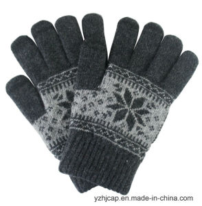 Colorful Touch Screen Jacquard Knitted Acrylic Touch Gloves pictures & photos