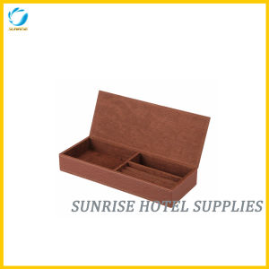 Hotel Brown Leather Jewelry Box Jewelry Holder pictures & photos