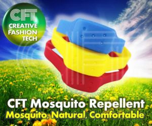 The Cft for 5 Hole (blue) Silicon Mosquito Repellent Bracelet pictures & photos