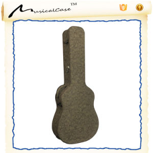 Wholesale Wood Guitar Case with Texture PU Leather pictures & photos