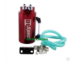 Round Racing Aluminum Oil Catch Tank Can with Mini Air Filter 0.5L pictures & photos