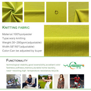 Knit Poly Velvet Tricot Fabric, Warp Knit Fabric for Upmarktet Sportswear pictures & photos