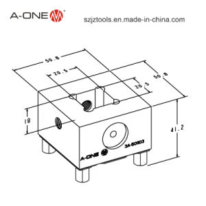 Welding Electrode Holder with 20mm Square Slot (3A-501103) pictures & photos