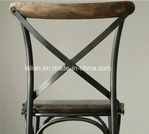 Modern Cross Back Iron Chair for Bar Furniture (LL-BC054) pictures & photos