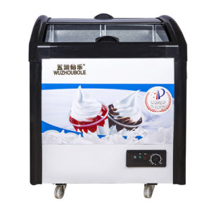 2016 New Products Sliding Toughened Coating Glass Ice Cream Freezer pictures & photos