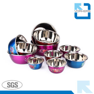 Popular Style Stainless Steel Mixing Bowls and Salad & Soup Bowls pictures & photos