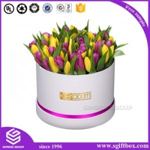 Luxury Custom Logo Printing Round Flower Box pictures & photos