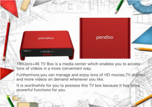 2016 Best Selling Model TV Box Kodi 17.0 Pre Loaded Amlogic S912 Pendoo T95u PRO Android 6.0 2g 16g Dual WiFi Kodi pictures & photos