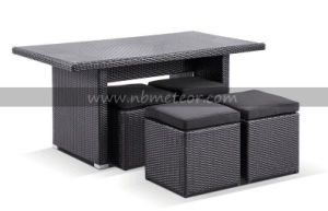 Mtc-254 Outdoor Rattan Garden Dining Stool Set pictures & photos