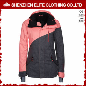 Pink and Grey Fashion Winter Ski Jacket for Girls (ELTSNBJI-51) pictures & photos