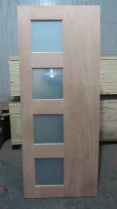 Interior Design Glass Bathroom MDF Wooden Door (MDF wooden door) pictures & photos