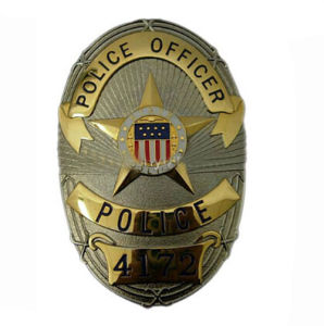 3D Cloisonne Imitation Metal Police Badge pictures & photos
