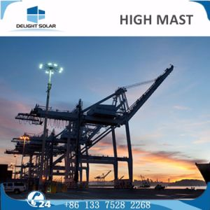 18m/20m/30m Polygonal/Conical Steel Pole Lighting Tower High Mast Lamp pictures & photos