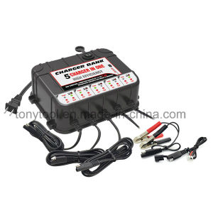 12 Volt 1.5 AMP Battery Charger - 5 Bank with 3.4A USB pictures & photos