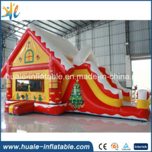High Quality Christmas Decoration Inflatable Bouncer with Slide for Sale pictures & photos