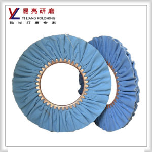 12inch Soft Blue Cloth Bias Buffing Wheel pictures & photos