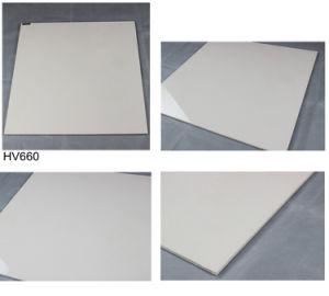 600X600mm Ceramic Building Material Ivory White Soluble Salt Polished Porcelain Floor Tile pictures & photos