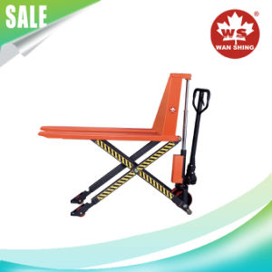 1t-1.5t/1000-1500kg Hydraulic High Lift Scissor Lift Pallet Truck/Manual Pallet Truck pictures & photos