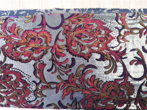 Silk Lurex Vevet Discharge Print Bout out pictures & photos