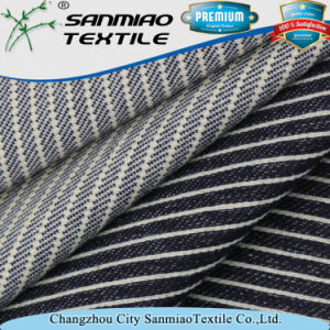 Indigo Striped Heavy Twill Knitted Denim Fabric pictures & photos