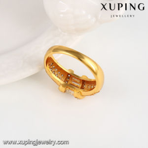 13273 Fashion Jewelry Accessory Latest 24k Gold Plated CZ Finger Ring pictures & photos