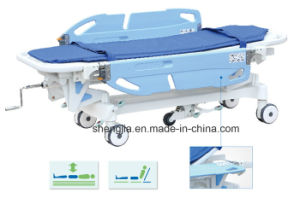 Sjm002-D New Style Luxurious Electric Rise-and-Fall Stretcher Cart
