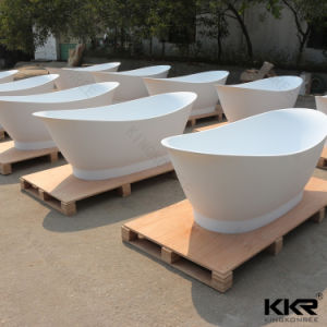 Sanitary Ware Solid Surface Bath Stone Black Bathtub pictures & photos